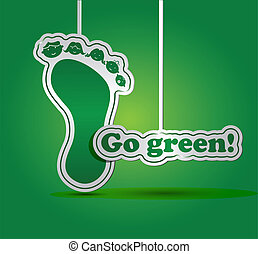 Go green card - ecology concept - Ecology concept with...