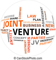 word cloud - joint venture - A word cloud of joint venture...