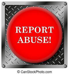 Report abuse metallic icon - Square icon with white design...