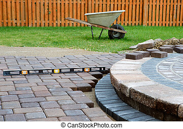 Patio Work - Wehn building a patio prepare to use level and...