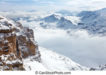 Dolomites mountains - Italian Alps with the Sella group in...