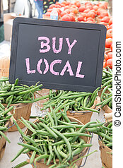 Buy Local Chalkboard Sign With Bushels of Green Beans and...