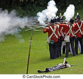 British Soldiers - British soldiers firing at the enemy...