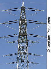 power line - detail of a overhead power line in front of...