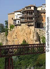 Cuenca - Spain - The hanging houses in the city of Cuenca in...