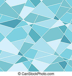 Vector seamless geometric blue polygonal pattern - abstract...