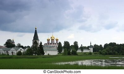 Valday Iversky Monastery - Movement of clouds over Valday...