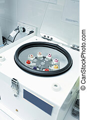 Centrifuge with pathology blood tubes for spinning - A...