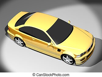 3D image of BMW M3 - 3D render of BMW M3 Redesigned by...