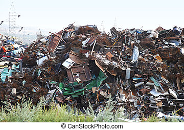 Scrapyard - Big bunch of metal at scrap yard