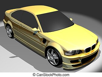 3D image of BMW M3 - 3D render of BMW M3. Redesigned by...