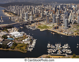 Vancouver in British Columbia - Canada - Aerial view of...