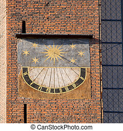 Sundial of the St Mary´s church in Gdansk - Medieval sundial...