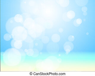 Beautiful sea beach bokeh. Vector background