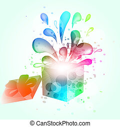 Gift box abstract background