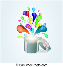 Gift box abstract background. Vector eps10 illustration
