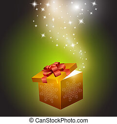 Golden gift box abstract background Vector eps10...