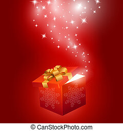 Red gift box abstract background. Vector eps10 illustration