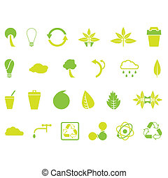 Environmental Icons - Set of 24 environmental designer...