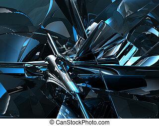 futuristic background - futuristic metal background - 3d...