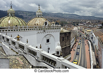 Santo Domingo Church - Quito - Ecuador - The domes of Santo...