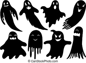 Set Of Different Ghosts