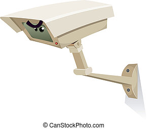 CCTV Security Camera - Illustration of a cartoon cctv...