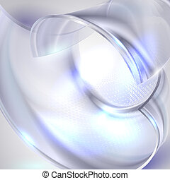 Abstract blue circle background