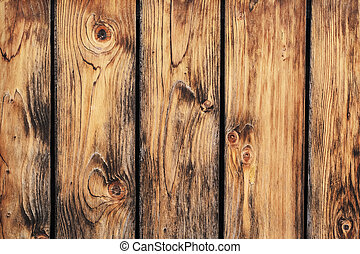 Old Rustic Pine Wood Fence - Detail - Photograph of an old...