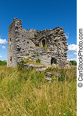 Ruins of a medieval church in Gotland, Sweden