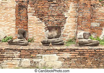 damage buddha statue