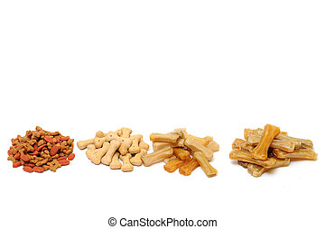 Pet food - Different types of dry food for pets