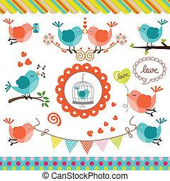 Love Birds Digital Collage