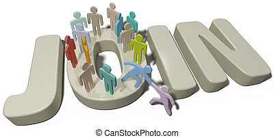 Person help join social or company people - Helping hand to...