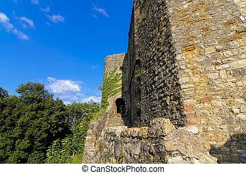 Castle ruins Roetteln Baden Wuerttemberg in Germany