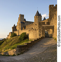 Carcassone - France - The medieval fortress and walled city...