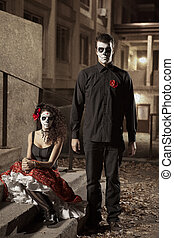 Dia de los Muerto Costume - Day of the dead is a mexican...