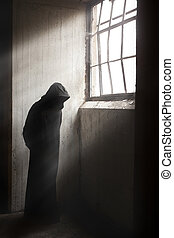 segadora, esperar, Oscuridad, abandonado, edificio
