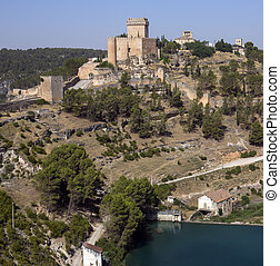 Alacon - La Mancha - Spain - The castles and fortress of the...