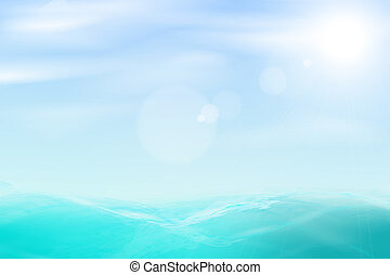 Abstract beautiful sea and sky background. Vector eps10...