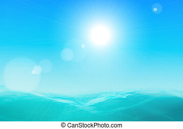 Abstract beautiful sea and sky background Vector eps10...