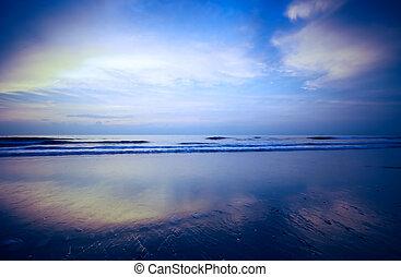 sunset background - beautiful blue sunset background