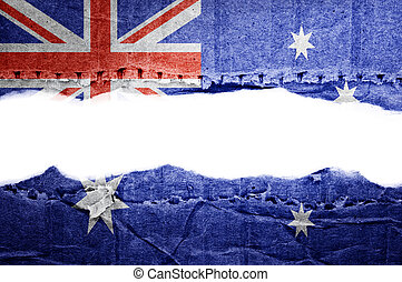 Australia flag with text space. - Flag. Text space.