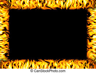 fire border - border made out of fire