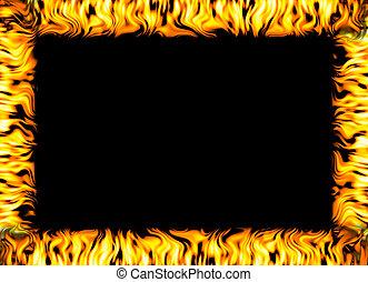 fogo, borda