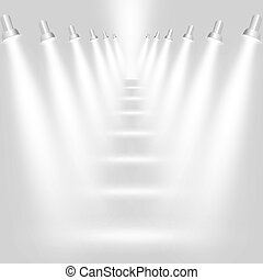 Abstract light grey background with spotlights Vector eps10...