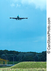 aircraft approaching airport