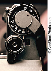 Old Film Camera detail of the Trigger and Shutter Speed...