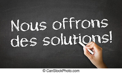 We offer Solutions (In French)