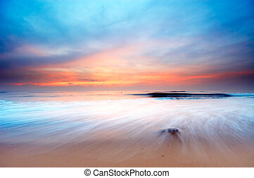 sunset landscape - beautiful sunset on the beach